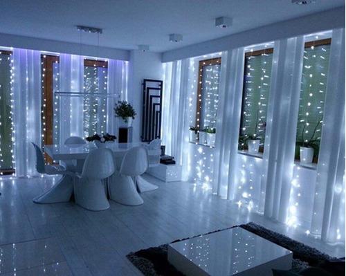 cortina 10x3 metros led blanco frio boda navidad decoracion