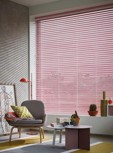 cortina 1.20 x 1.60m rosa veneciana moderna colores aluminio