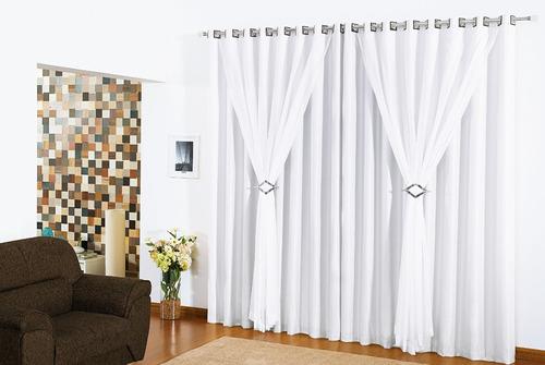 cortina 2 metros 2,00x2,30 altura vison voil clássica balcão
