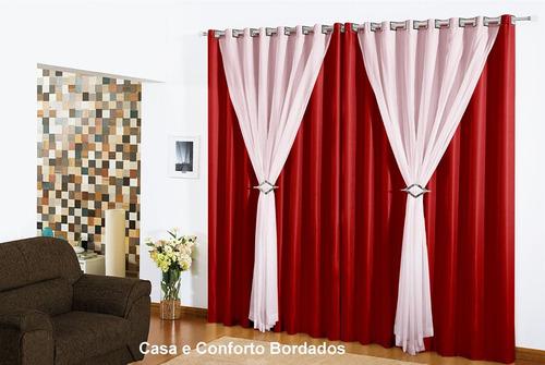 cortina 2 metros larg branca 2,50 altura clássica balcão e +