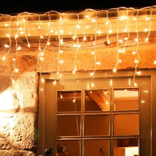 cortina 200 luces cascada 2x2 metros guirnalda interior ext