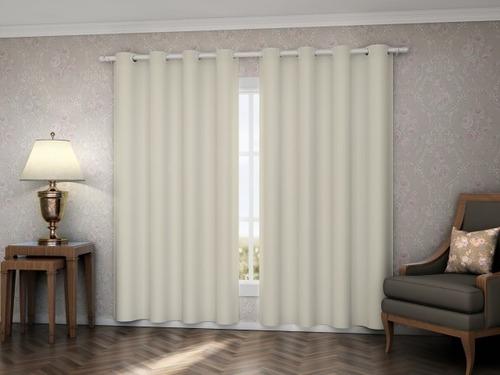 cortina 2,00 x 2,80mt blackout salehtex palha corta luz