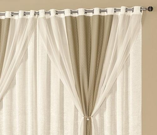 cortina 3 metros forro tafetá voil e linho renda pág: 106