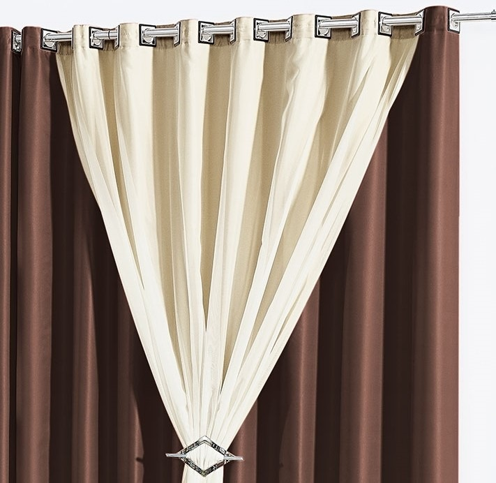 Cortina 3 metros sala quarto 3 00x2 80 vison e voil ilh s for Buscar cortinas para salas