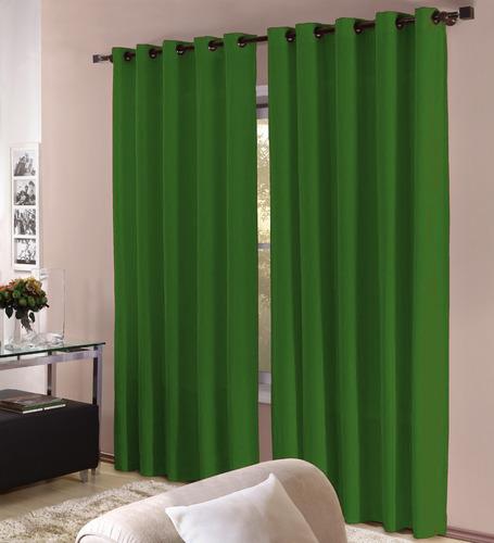 cortina 3,00x2,50 quarto e sala para varão - varias cores