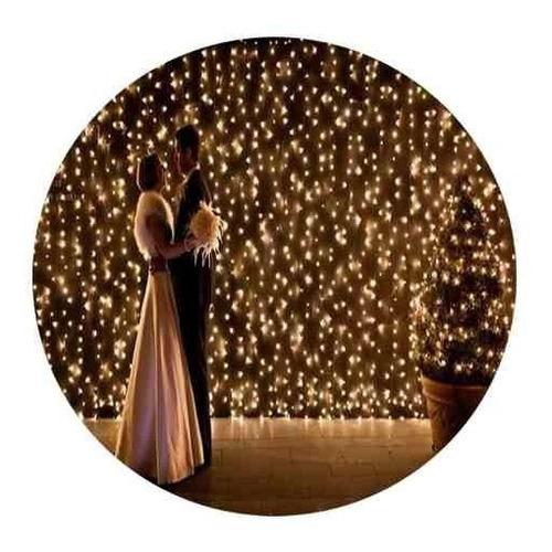 cortina 320 led blanco calido 3,5x2 mtr matri eventos boda