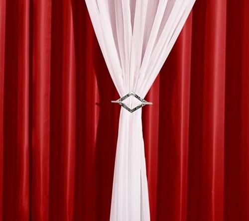 cortina 4 metros de sala quarto 4,00x2,80 vison e voil ilhós