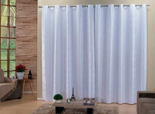cortina 4 metros sala e quarto tec. jacquard estampado