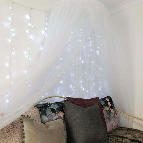 cortina 400 luces led enorme 8 metros 47 tiras blanco azul