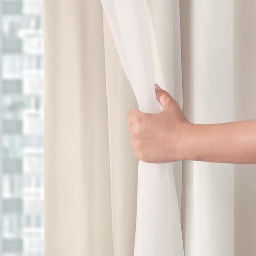 cortina 5,00x2,80 voil com forro blackout tecido corta luz