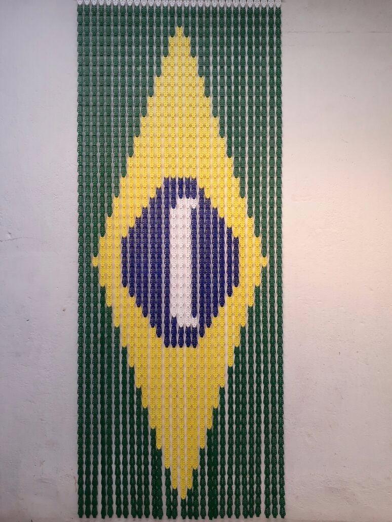Cortina Americana Cozinha Sala Porta Painel Plastica Brasil R 95