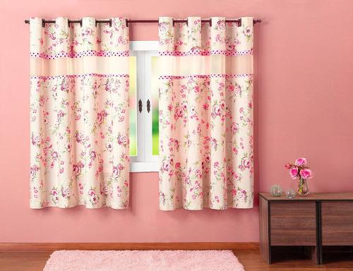 cortina ariela 2 metros cor palha 100% algodão