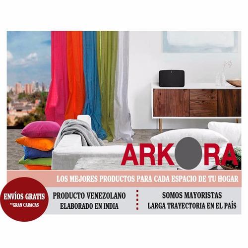cortina arkora 100% algodón - rosado