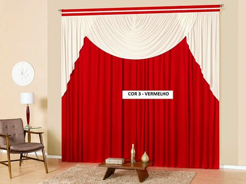 cortina atacado decoração nayara casa quarto/sala 2,00x1,70m