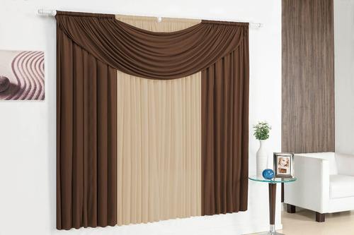 cortina athenas 3,00 x 2,80 tabaco com avelã