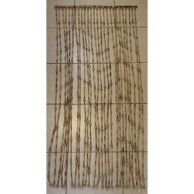 Cortina Bambu Natural C/bolinha De Madeira Entre Eles