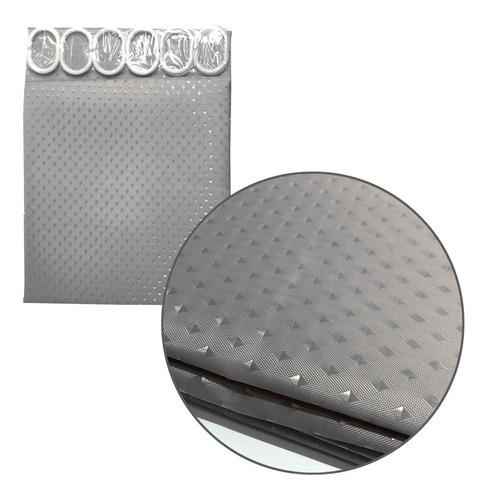 cortina baño ducha gris 1.80 mts alto tela teflon deco 82048