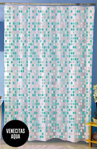 cortina baño venecitas, varios modelos con ganchos