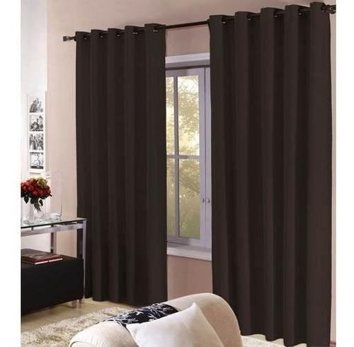 cortina barcelona branca 4,00 x 2,50m - com ilhós cromado