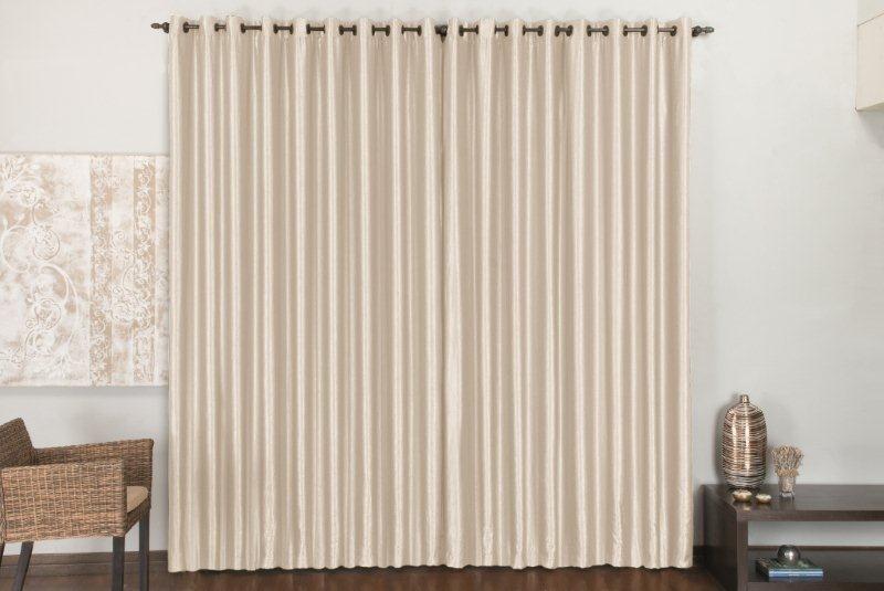 Cortina bella 3 00m x 2 80m tecido cetim amassado r for Ver cortinas modernas
