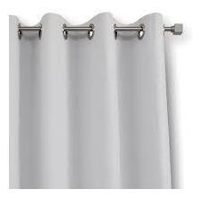 cortina blackout 2,80larg x 1,50alt para varão branca