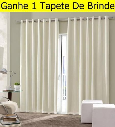 cortina blackout em tecido 3x2,5m bloqueia 100% frete grátis