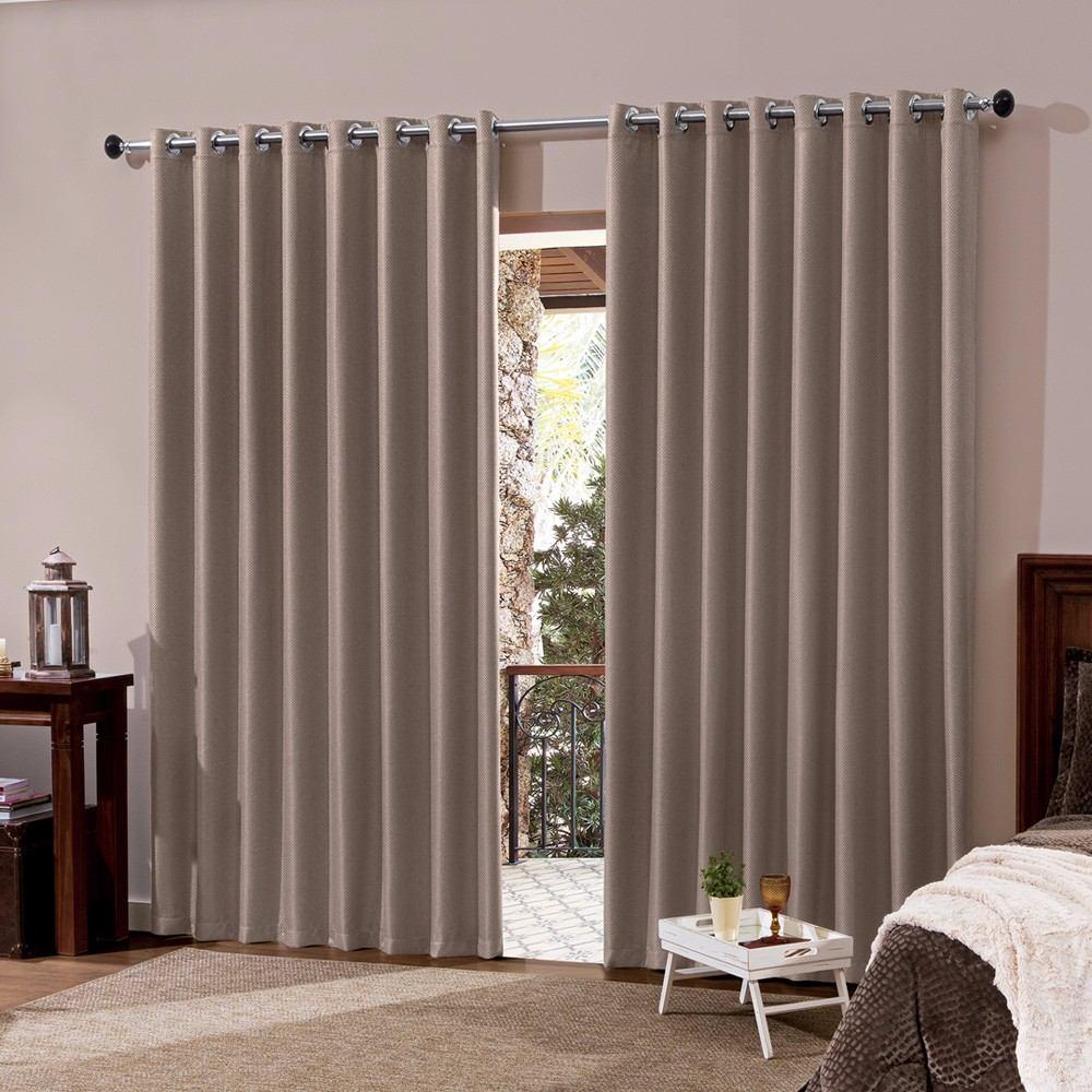 Cortina blackout em tecido 4 00x2 80 corta luz avela r for Cortinas para cortinas