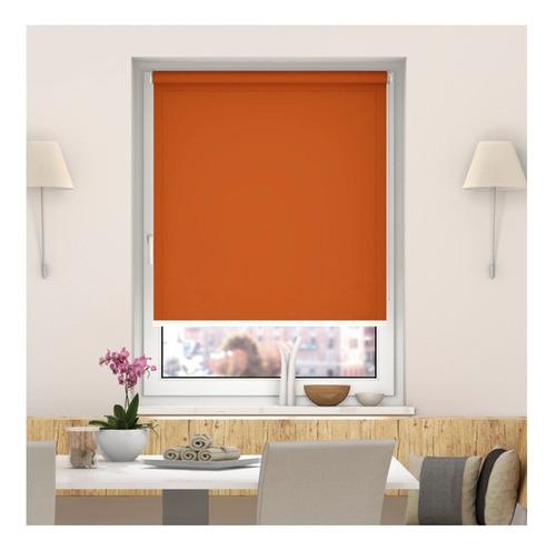 cortina blackout roller 100x165cm. terracota