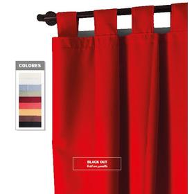 Cortina Blackout Textil C/ Presilla 1,50alt X 1,35anch