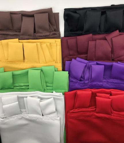 cortina blackout textil x 2 paños lavables listas p/ colgar