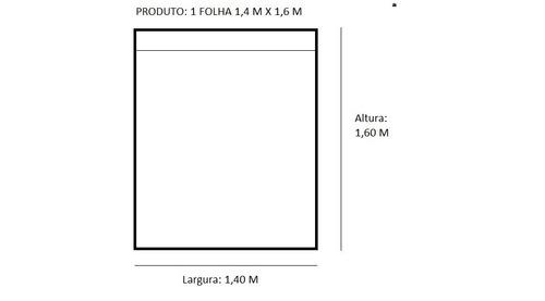cortina blecaute blackout corta luz uma folha 1,4 m x 1,6 m