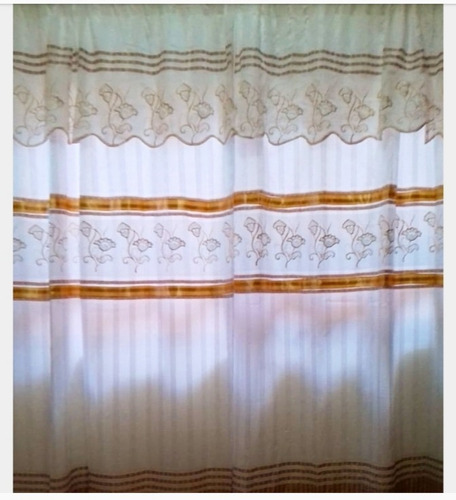 cortina bordada larga