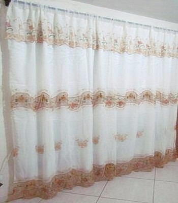 Cortina bordada para sala ou quarto 3 00x 2 30 frete - Comprar cortinas barcelona ...