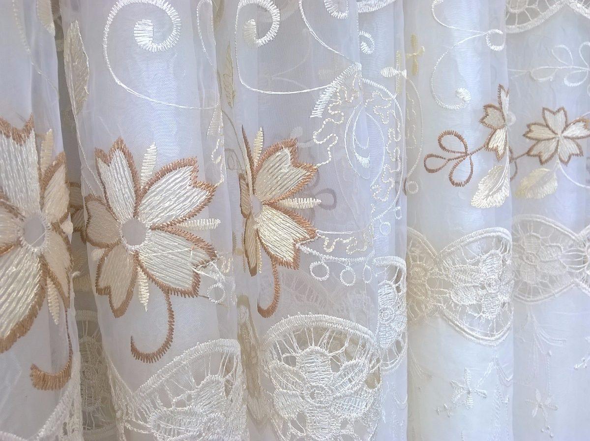 Cortina bordada sala varanda fl rida 4 00m x 2 70m 15059 - Modelos de cortinas infantiles ...