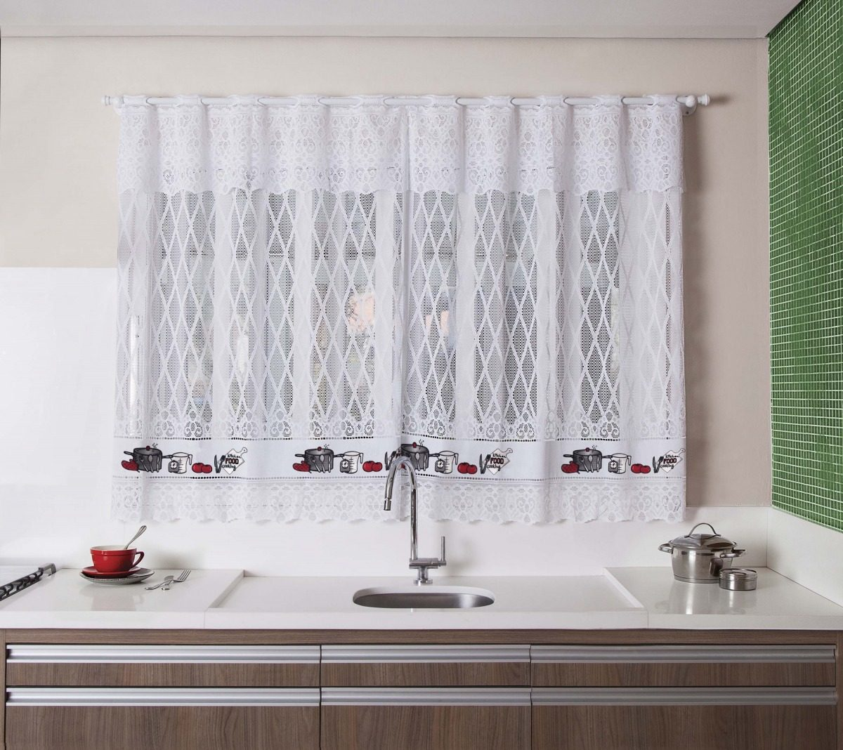 Cortina Renda De Cozinha Casa Decora O Estampa 200 X 150 Cm R 44