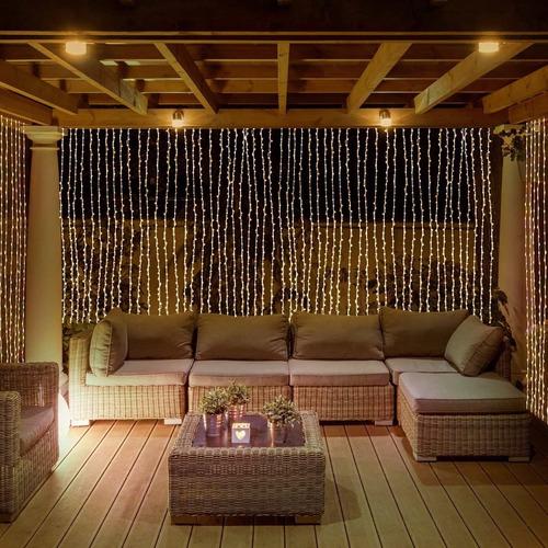 cortina/ cascada de luces 300 leds 3x3m. decoracion