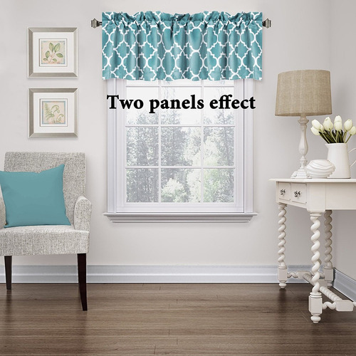 cortina cenefa para cocina flamingop 52x18 pulg -aqua