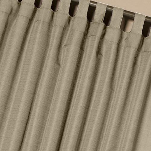 cortina com passante cor caqui 300x250cm
