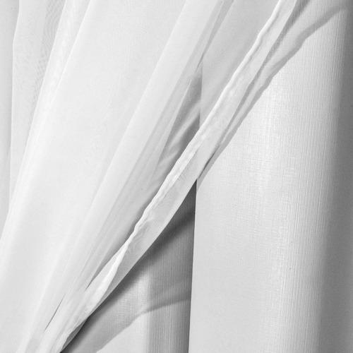 cortina corta luz 100% blackout com voil 4,00m x 2,40m varão