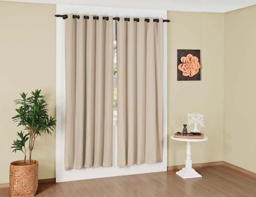 cortina corta luz black-out tecido 270x250 melhor frete