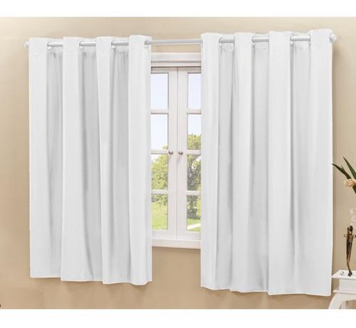 cortina corta luz blackout blecaute 2,80 x 1,60 - eddi casa