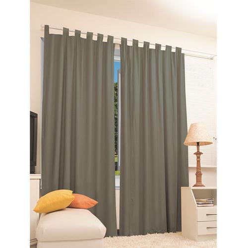 cortina corta luz blackout cinza 2,00x 1,40 + brinde