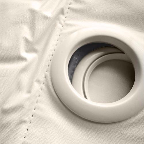 cortina corta luz blackout - pvc 3,00 x 2,30 (branco/branco)