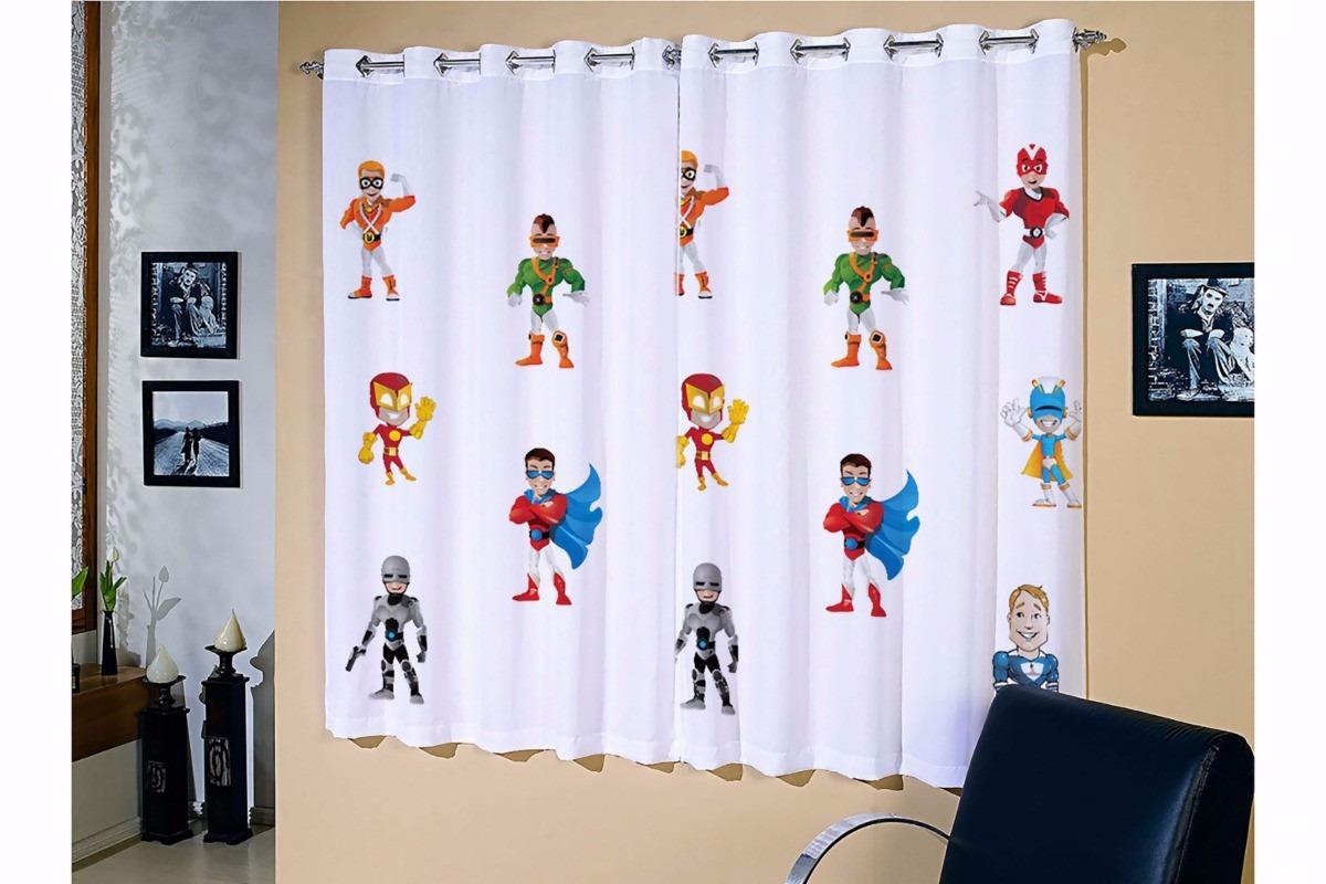 Cortina Corta Luz P Quarto De Menino Superheroi 2 20 X 1 30 R  ~ Quarto De Adolescente Meninas E Ver Cortinas Para Quarto