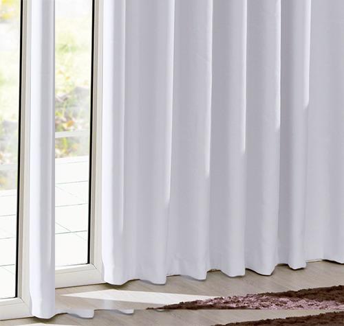 cortina corta luz tecido 3,00x2,50m branco gelo bella janela