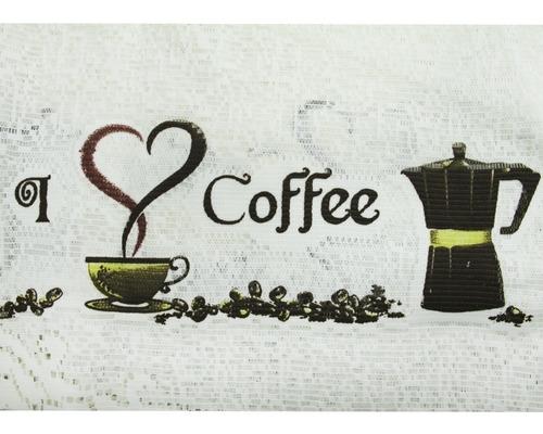 cortina cozinha cascata renda 3.00x1.00m grãos café interlar
