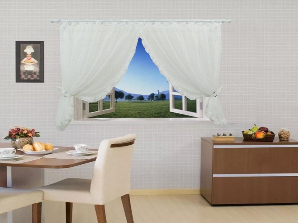 Cortina Cozinha S Forro Aspen Calandrado 200×150 C Babado R 174