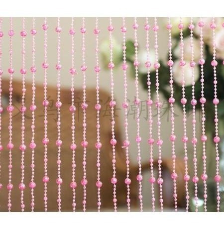 cortina cristal acrílica de miçangas e contas delicadas