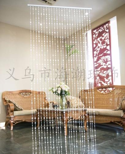 cortina cristal acrílica de miçangas e contas oferta