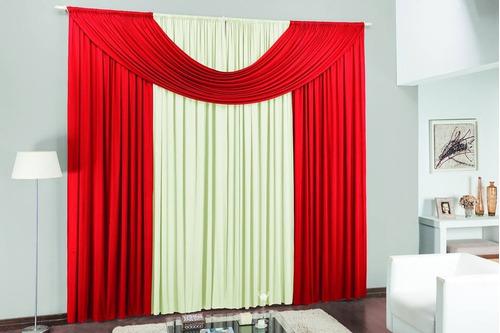 cortina cristal de 3m azul e branco para sala ou quarto